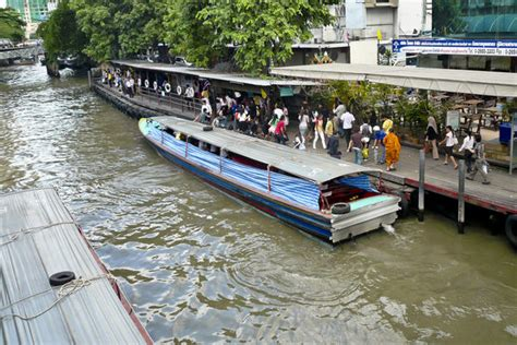 boat transport bangkok sewage facials on bangkok s river transport system