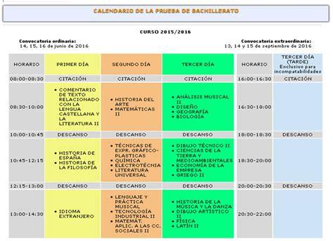 Calendario Escolar Andalucia 2015 Y 2016 Calendario De Selectividad 2016 En Andaluc 237 A