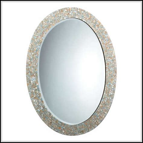 Bathroom Oval Mirrors Beautiful Oval Bathroom Mirrors To Add Visual Interest Home Design Ideas Plans