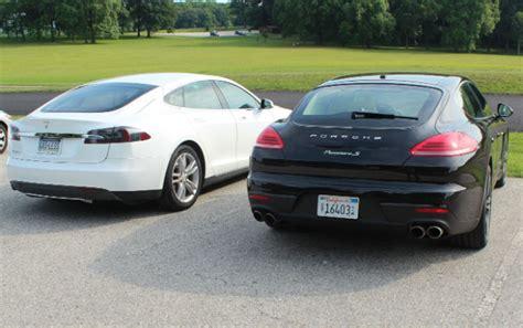 tesla model s vs chevy volt review 2014 porsche panamera s e hybrid vs
