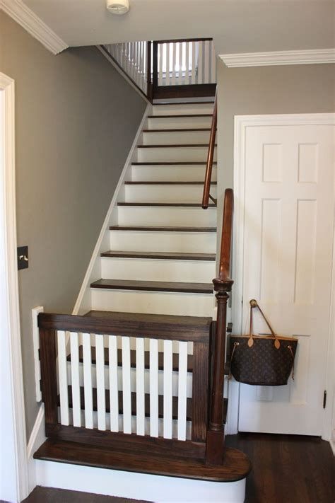 best baby gate for top of stairs with banister 25 best ideas about baby gates stairs on pinterest
