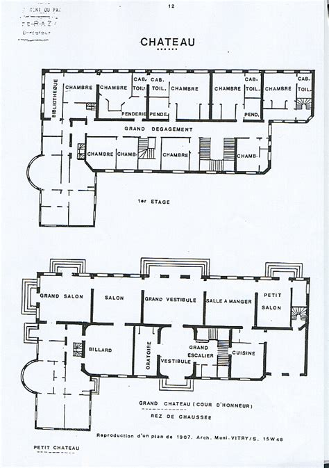 Chateau Plans by La Seigneurie De Vitry Le Ch 226 Teau Mairie De Vitry Sur