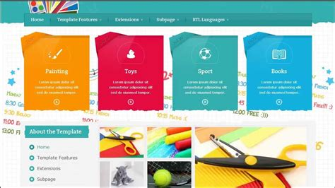 Jm School Tools Joomla 3 X Template Youtube School Photo Templates Free