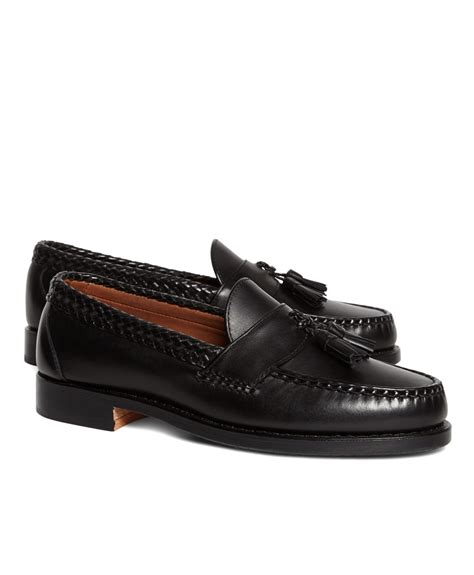 brothers tassel loafer brothers braid tassel loafers in black