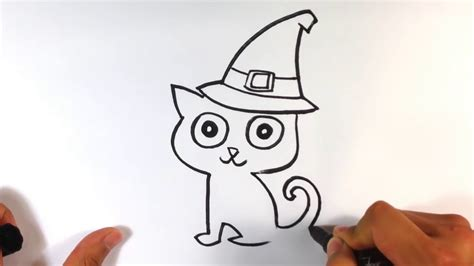 doodle cat how to make a hat how to draw a cat in a witches hat drawings