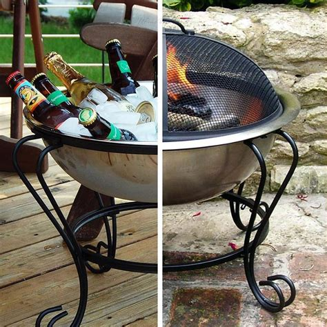 stainless steel beverage tub portable fire pit 18