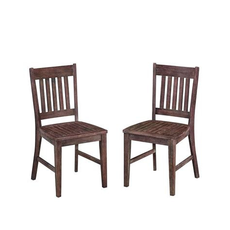 Dining Chair Styles Home Styles Morocco Acacia Wood Patio Dining Chair 5601 802 The Home Depot
