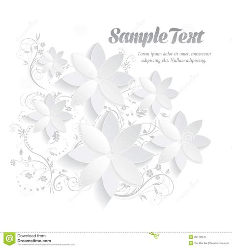 3d paper card template 3d paper floral elements stock vector image of craft