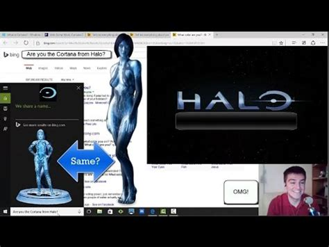 """asking windows 10 a.i. cortana """"halo"""" questions related to"""