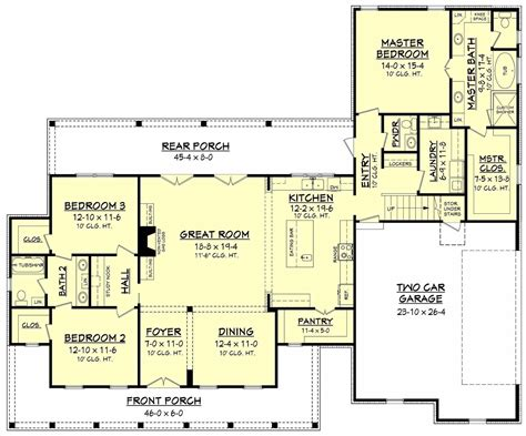 house plans floor plans open concept farmhouse floor plans
