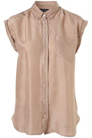 7 Stylish Neutral Clothes topshop cap twist sleeve silk shirt 7 stylish neutral