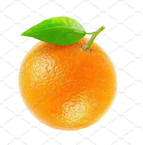 Fruity Orence one isolated orange fruit food images creative market