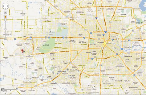 map katy texas west houston map