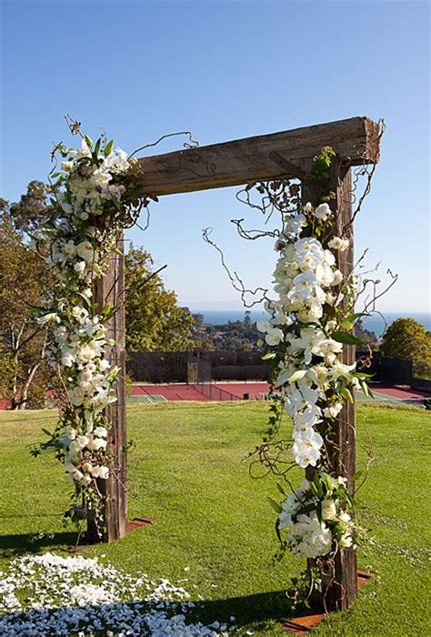 Rustic Wedding Arbor For Sale by A Summer Country Club Wedding In Santa Barbara California