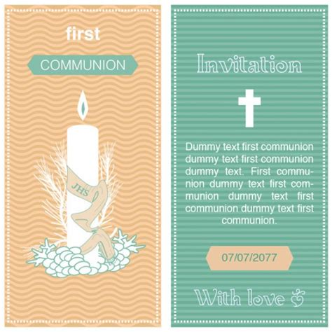 communion card templates free communion invitation template vector free