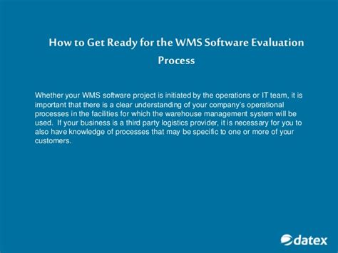 how to get how to get the most out of a software evaluation process