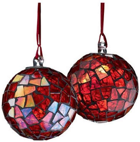 exquisite christmas ornaments mosaic tree ornament design from crate barrel