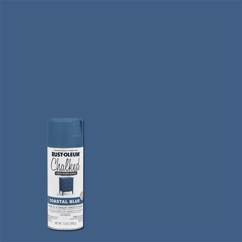 rust oleum 12 oz coastal blue chalked spray paint 6 pack 302598 the home depot