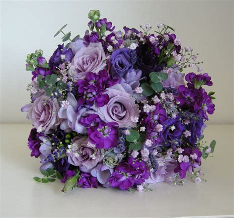 Purple Flowers Wedding by Wedding Flowers Becky S Country Style Wedding