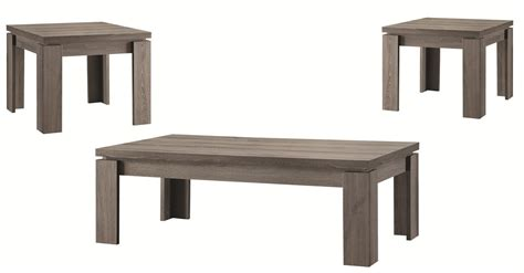 Grey Coffee Table Set by Coaster 701686 Grey Wood Coffee Table Set A Sofa