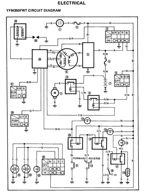 yamaha warrior 350 wiring diagram warrior 350 cdi wiring