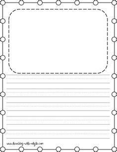Tale Writing Paper Template by Write And Draw Lined Paper With Space For Story