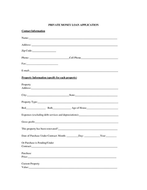 private loan agreement template and loan contract form