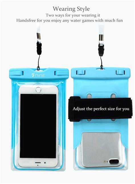 Waterproof Bag Phone 5 5 Inch Blue nine waterproof fingerprint touch screen fluorescence