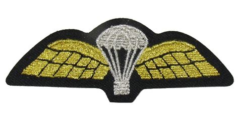 Wings Sew On Embroidered Patch Badge Air Force Military Uniform R1760 | parachute wings sew on embroidered patch badge air force