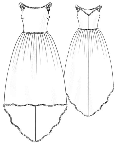 dress pattern draw wedding dress sewing pattern 5212 made to measure