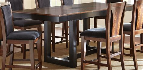 counter height rectangular table sets julian extendable rectangular counter height dining table