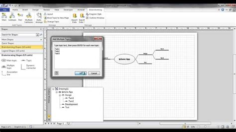 visio mind mapping create a brainstorm diagram or mind map in visio