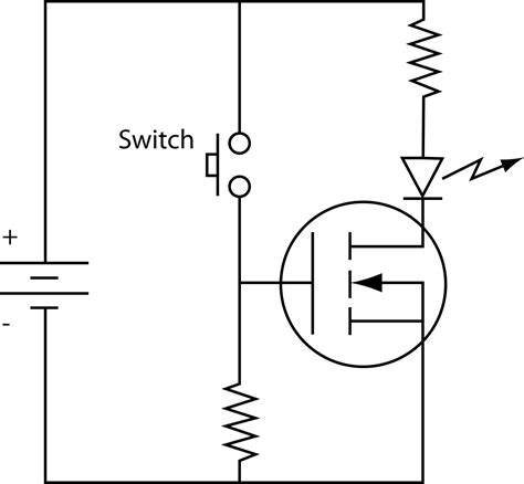 transistor mosfet switch file mosfet n ch circuit svg