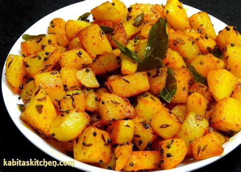 aloo fry recipe simple potato fry for lunch box easy and quick potato recipe indian potato