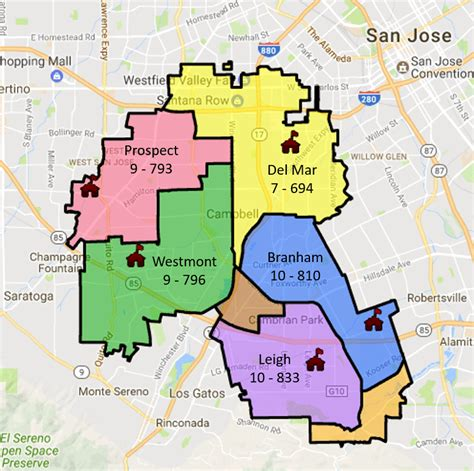 san jose city map boundary los gatos schools siliconvalleymls
