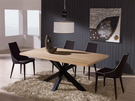Table Salle A Manger Carre 658 by Table Salle A Manger Design En Bois Tal For Fer Ma Verre