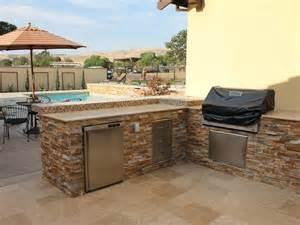 Granite Countertop Kitchens - exterior designs ledgestone outdoor kitchen