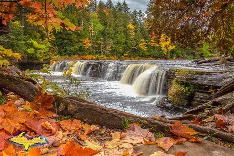waterfalls  tahquamenon  autumn fall colors