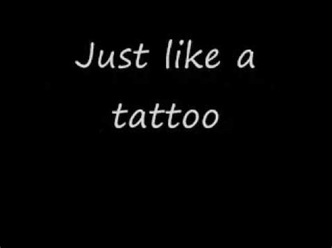 tattoo with lyrics youtube jordin sparks tattoo song and lyrics youtube