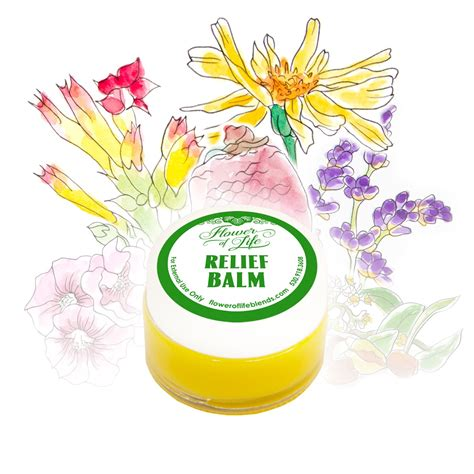 Blue Relief Balm relief balm flower of essential blends