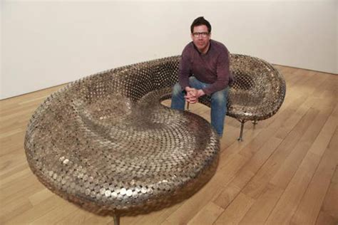 johnny swing audacious sofa made from coins by johnny swing freshome com