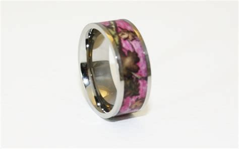 pink camo wedding rings for di candia fashion