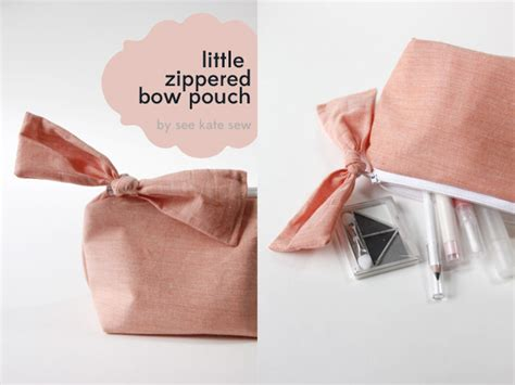 3d Pattern Pouch zippered bow pouch pattern tutorial see kate sew
