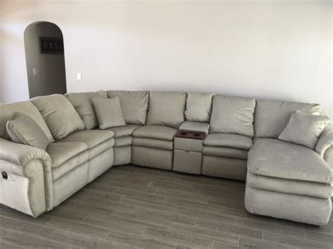 lazy boy leather sectionals couches with recliners corner couches with recliners
