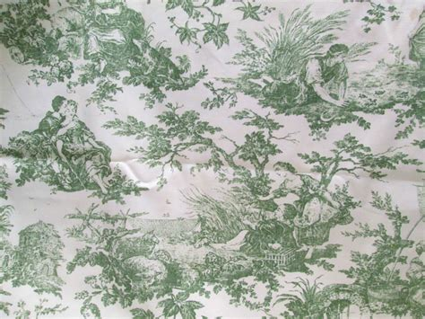 green toile drapes toile fabric laura ashley 2 3 yds moss green french toile de