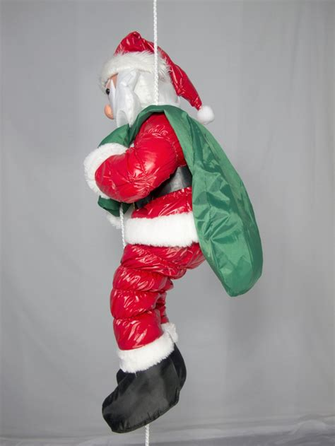 hanging padded santa outdoor decoration 64cm large
