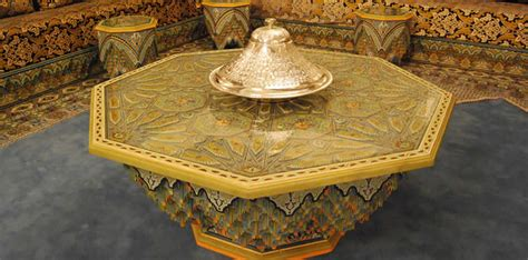 moroccan wood dining tables