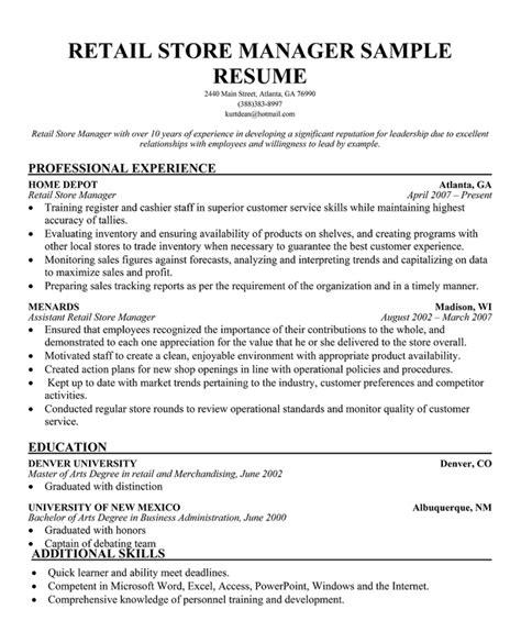 Sample Resumes Retail   Resume CV Cover Letter