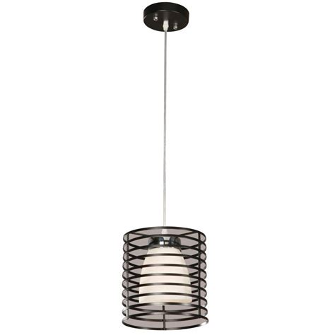 hton bay aranga drum 1 light matte black mini pendant