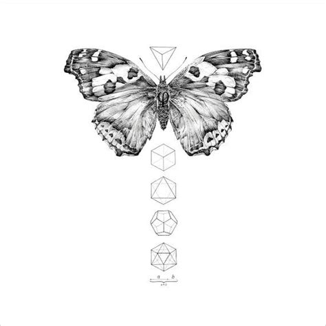 small black and white butterfly tattoos realistic black and white butterfly and small geometric